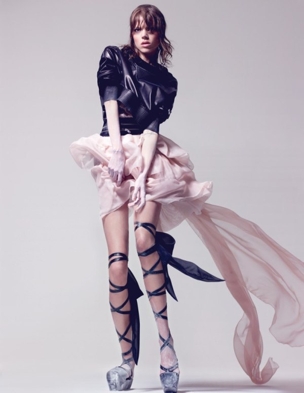 Freja Beha Erichsen by Craig McDean in Tough Ballerina | Interview April 2010