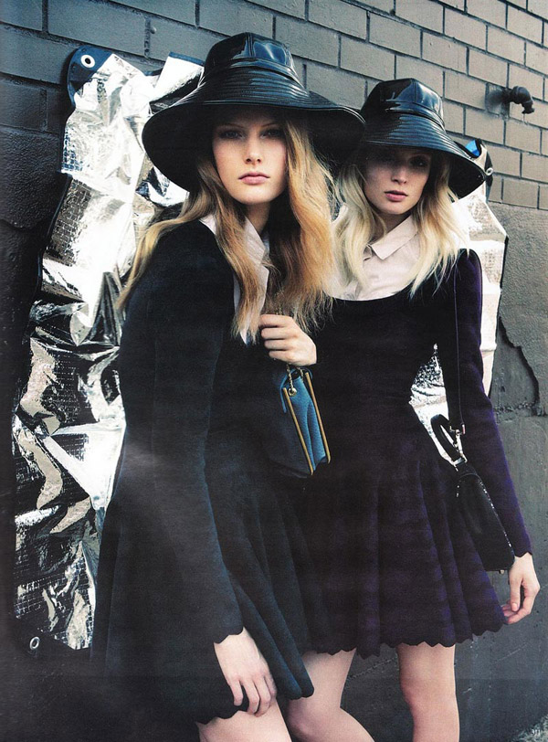 Melissa Tammerijn & Ylonka Verheul by Knoepfel & Indlekofer for Vogue Germany September 2010
