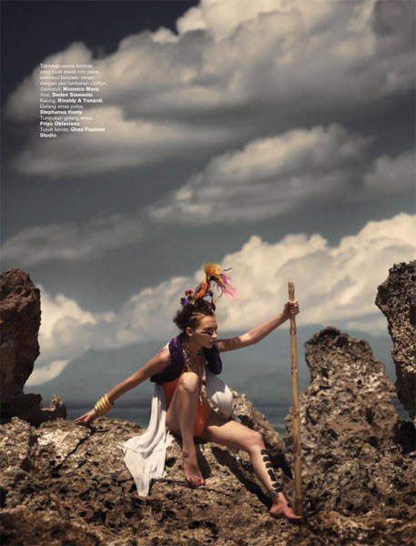 Harper's Bazaar Indonesia | Julia Jamil by Davy Linggar