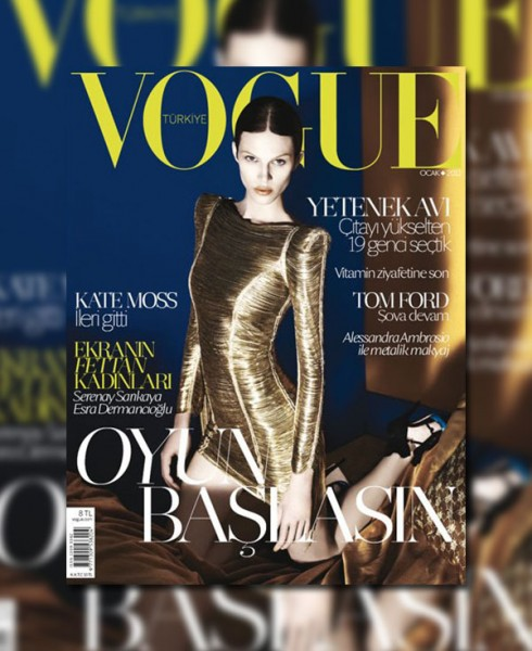 <em>Vogue Turkey</em> January 2011 Cover | Aymeline Valade by David Dunan