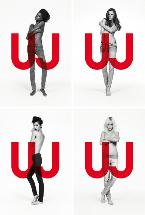 Uniqlo Jeans Spring 2010 Campaign   Anna de Rijk, Ginta Lapina, Kelly Moreira & Tao Okamoto by Inez & Vinoodh