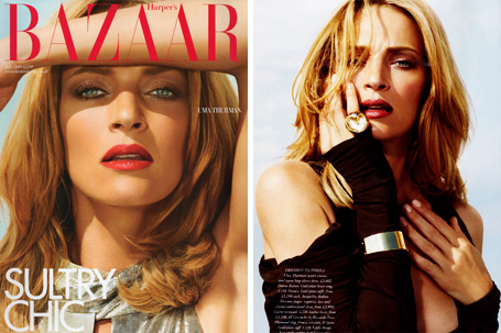 Uma Thurman in Harper's Bazaar UK