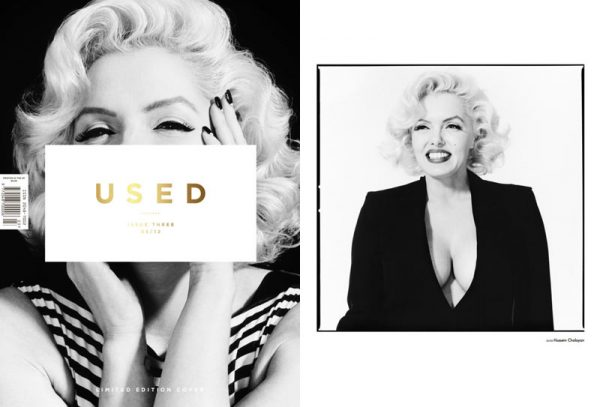 Suzie Kennedy as Marilyn Monroe for Used Magazine S/S 2012