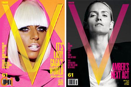 V #61 Covers | Lady Gaga and Amber Valletta