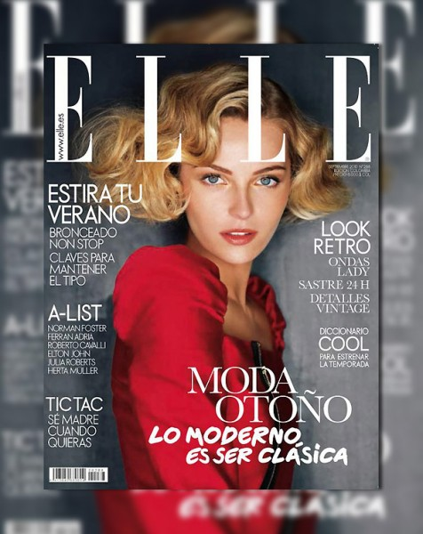 <em>Elle Spain</em> September 2010 Cover | Valentina Zelyaeva