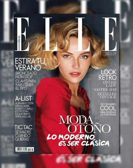 Elle Spain September 2010 Cover | Valentina Zelyaeva