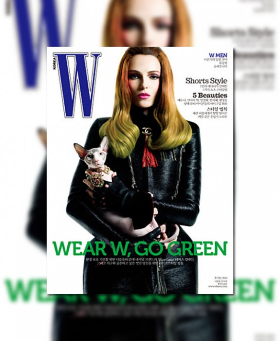 W Korea June 2010 Cover | Valentina Zelyaeva by Jeffrey Graetsch