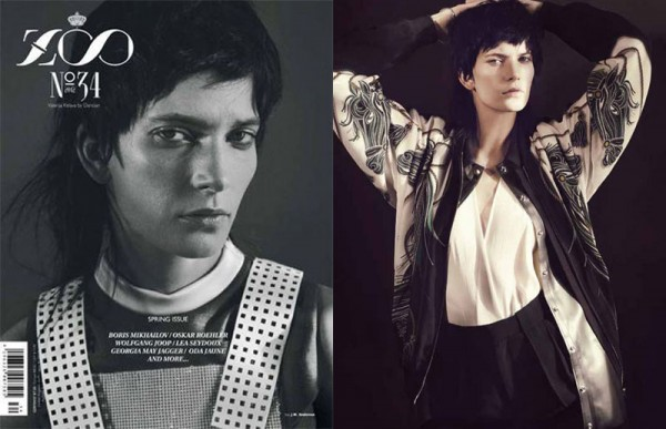 Valerija Kelava by Dancian for Zoo Magazine Spring 2012
