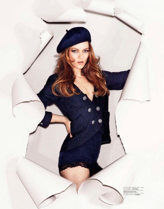 Vanessa Paradis Takes on Parisian Fashion for Jalouse's September 2012 Cover Shoot