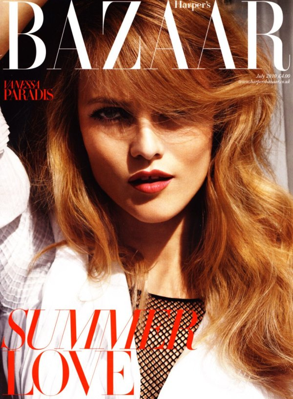 Harper's Bazaar UK July 2010 Cover | Vanessa Paradis by Cédric Buchet