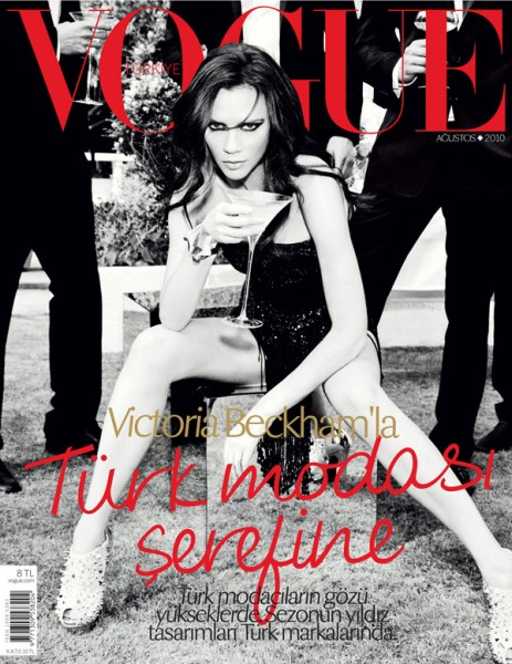 <em>Vogue Turkey</em> August 2010 Cover | Victoria Beckham by Ellen von Unwerth