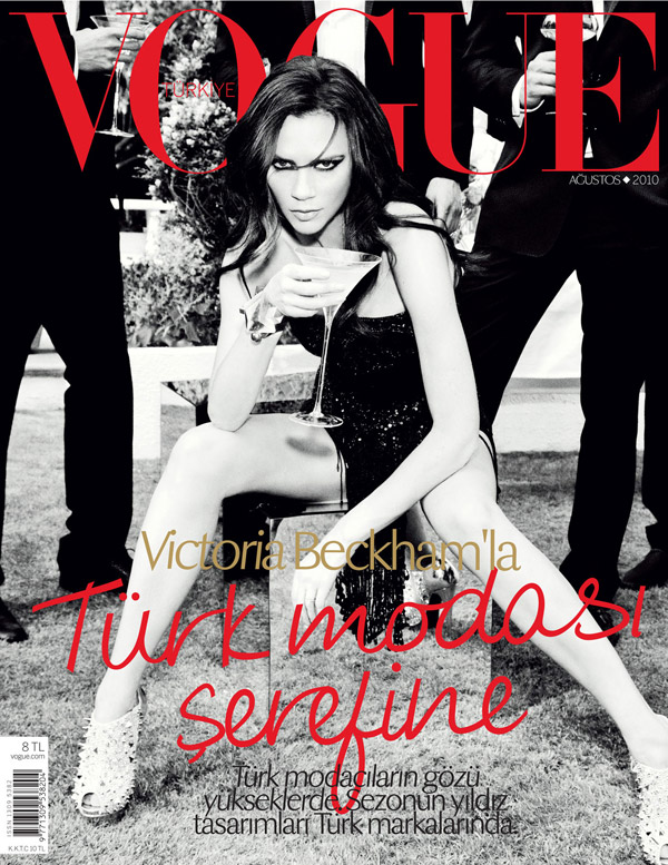 Vogue Turkey August 2010 Cover | Victoria Beckham by Ellen von Unwerth
