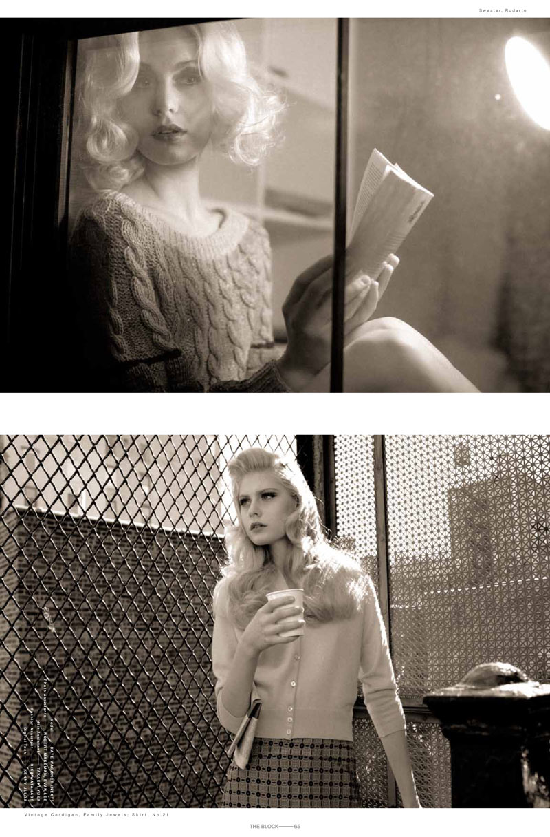 Kate Wagoner by Victor Demarchelier for The Block S/S 2012