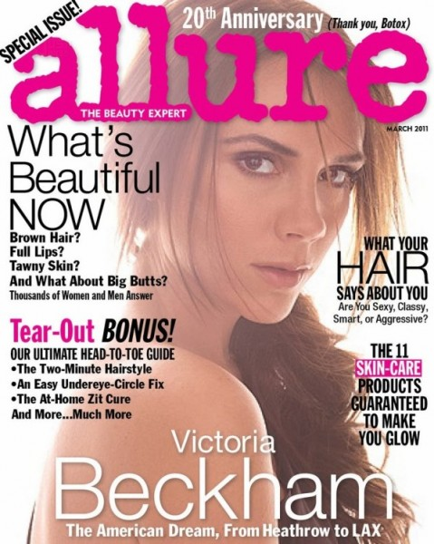 <em>Allure</em> March 2011 Cover | Victoria Beckham by Michael Thompson