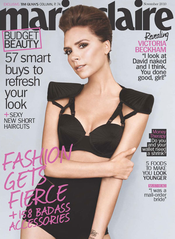 Marie Claire US November 2010 Cover | Victoria Beckham by Ruven Afanador