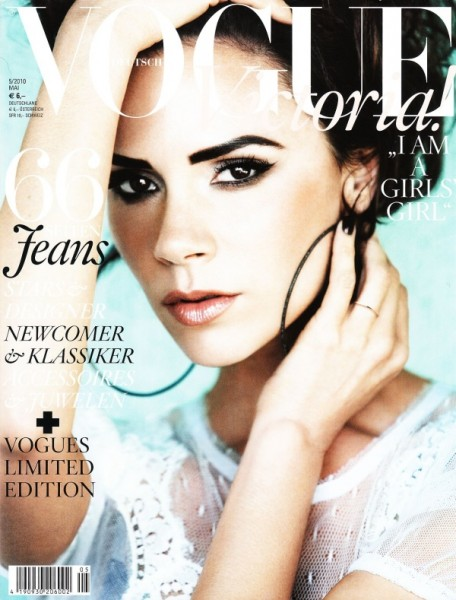 <em>Vogue Germany</em> May 2010 Cover | Victoria Beckham by Alexi Lubomirski