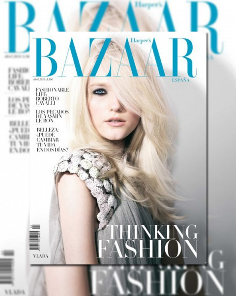 <em>Harper&#8217;s Bazaar Spain</em> April 2010 Cover | Vlada Roslyakova