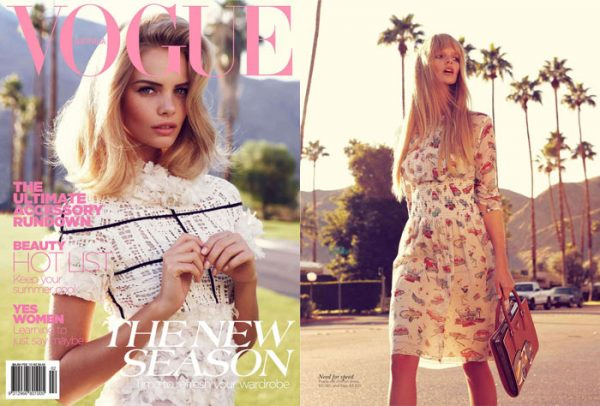 Marloes Horst &#038; Kendra Spears by Nicole Bentley for <em>Vogue Australia</em> February 2012