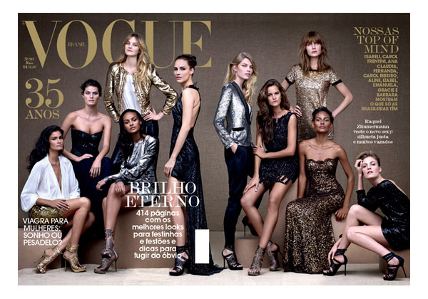 <em>Vogue Brazil</em> May 2010 35th Anniversary Cover | Brazilian Models by Gui Paganini