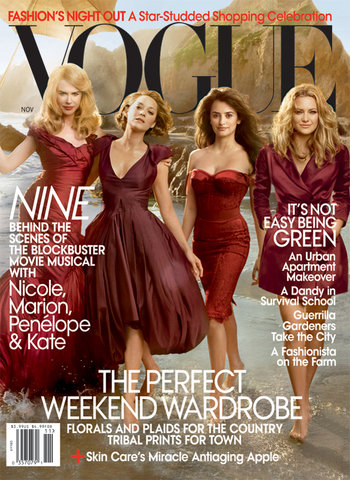 Vogue US November 2009 – Nicole, Kate H., Penelope & Marion by Annie Leibovitz