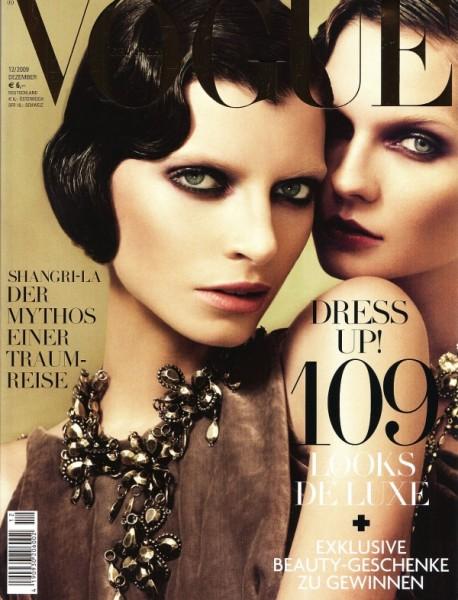 Vogue Germany December 2009 Cover | Luca Gadjus & Karolin Wolter by Alexi Lubormirski