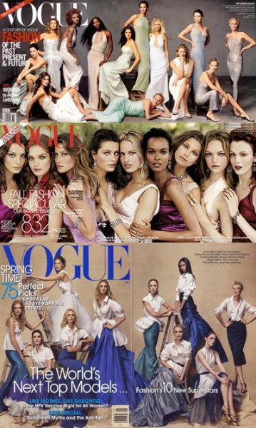 "American Vogue's ""Top Models"" Issue"