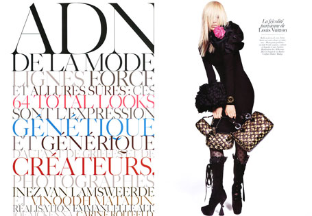 Vogue Paris August 2009 | ADN de la Mode by Inez & Vinoodh (Part 1)