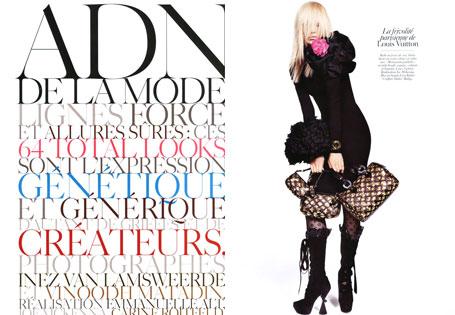 Vogue Paris August 2009 | ADN de la Mode by Inez & Vinoodh (Part 1)