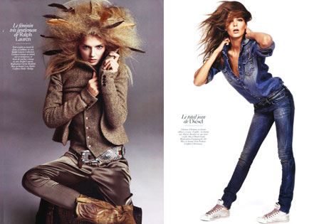 Vogue Paris August 2009 | ADN de la Mode by Inez & Vinoodh (Part 2)