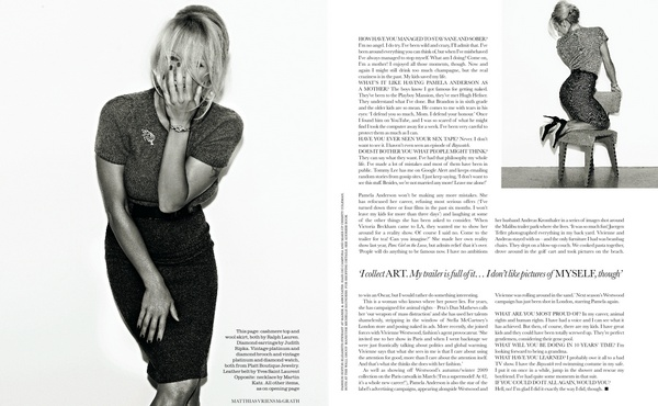 Matthias Vriens-McGrath Shoots Pamela Anderson for Elle UK