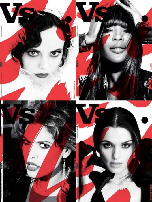 Vs. Magazine F/W 2010 Covers   Naomi Campbell, Christina Ricci, Eva Mendes & Rachel Weisz