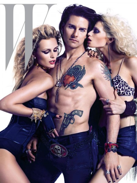 Abbey Lee Kershaw, Edita Vilkeviciute & Tom Cruise Cover W Magazine June 2012