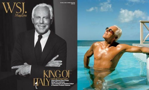Giorgio Armani Covers WSJ June, Talks The Future of His Brand and Fashion