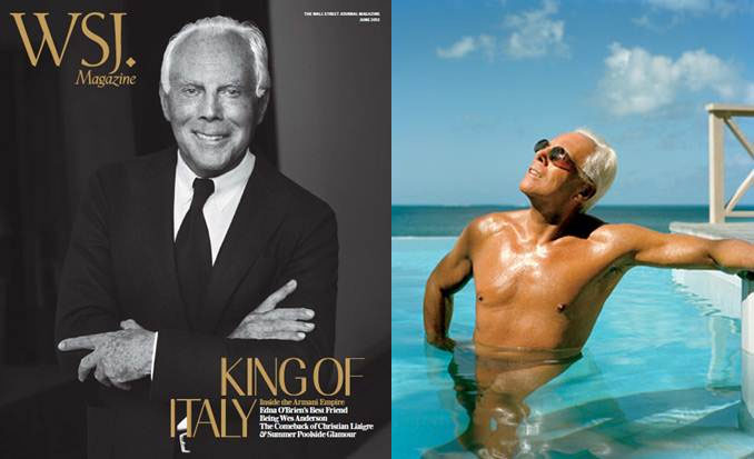 Giorgio Armani Covers WSJ June, Talks The Future of His Brand and Fashion
