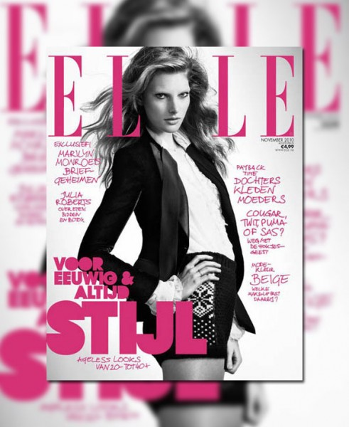 <em>Elle Netherlands</em> November 2010 Cover | Ylonka Verheul by Duy Quoc Vo
