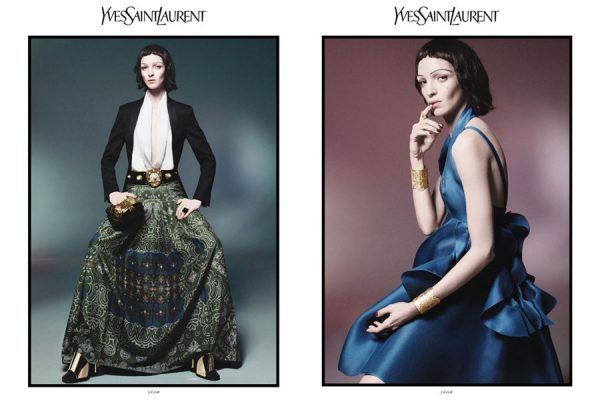 Mariacarla Boscono for Yves Saint Laurent Spring 2012 Campaign by David Sims