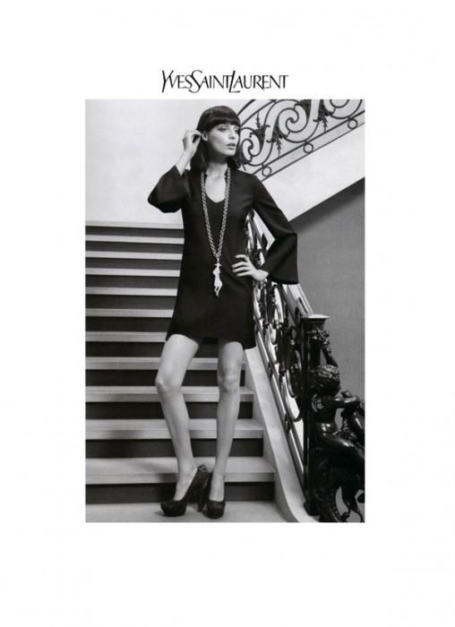 Yves Saint Laurent Fall 2010 Campaign   Daria Werbowy by Inez & Vinoodh