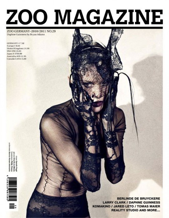 Daphne Guinness for Zoo #29 Winter 2010 Cover