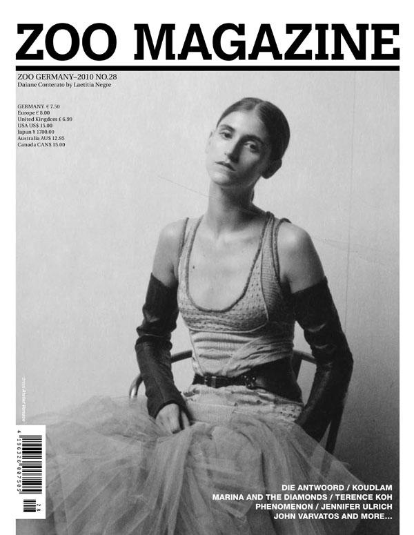Zoo Magazine Fall 2010 Cover | Daiane Conterato by Laetitia Negre