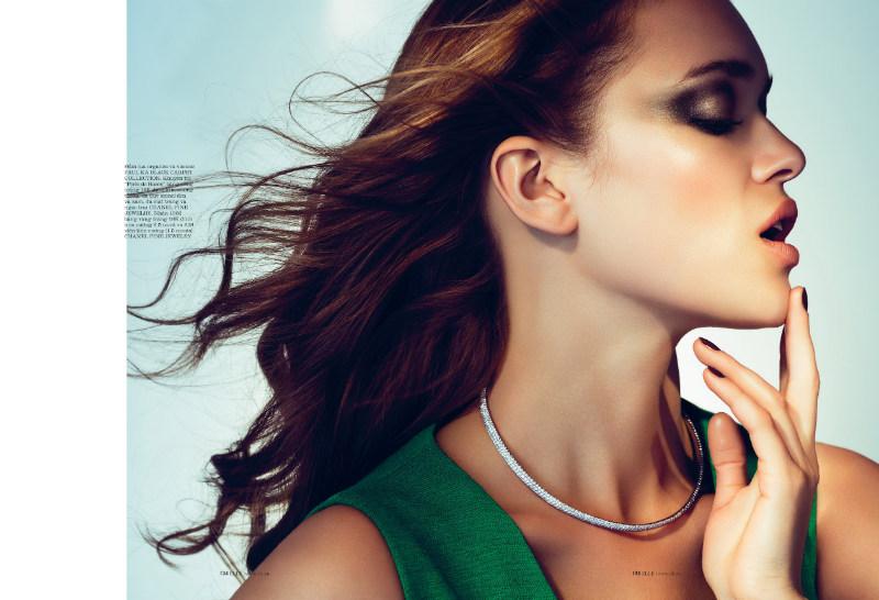 Anna Dabrowska Lenses Glam Beauty for Elle Vietnam November 2012