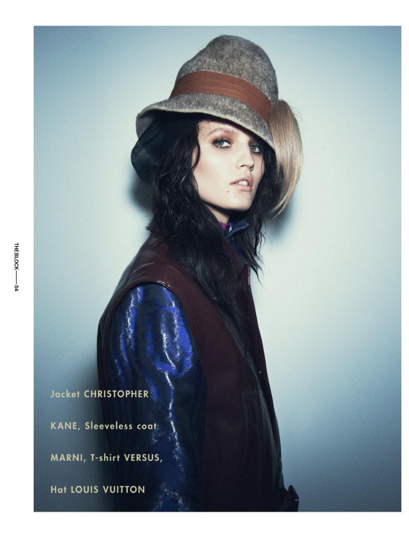 Katlin Aas is Glamorously Grunge for Ward Ivan Rafik in The Block F/W 2012