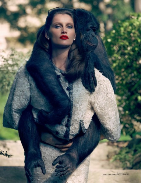 Laetitia Casta Wears Dolce & Gabbana for Vogue Turkey by Sean & Seng