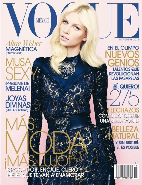 Aline Weber is Lovely in Lanvin for Vogue Mexico's November 2012 Cover