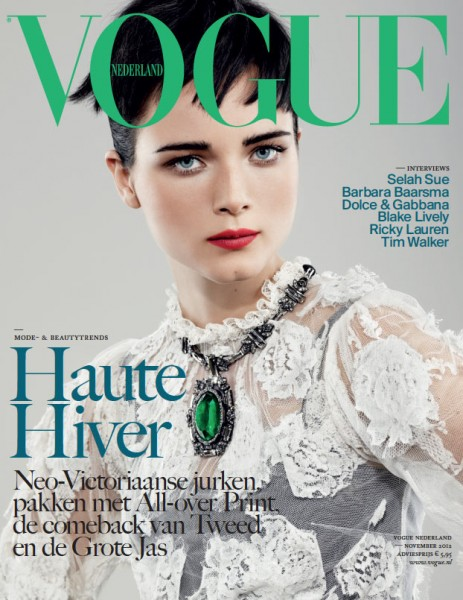Anna de Rijk Covers Vogue Netherlands' November 2012 Issue in Dolce & Gabbana