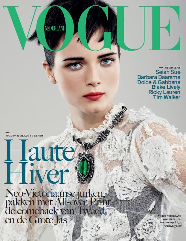 Anna de Rijk Covers Vogue Netherlands' November 2012 Issue in Dolce & Gabbana