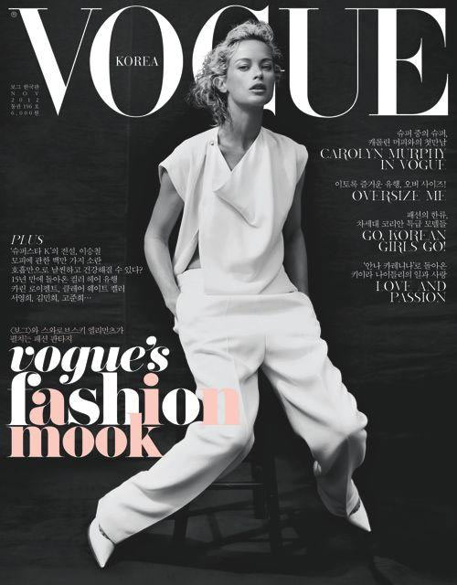Carolyn murphy dons celine for vogue koreas november 2012 cover