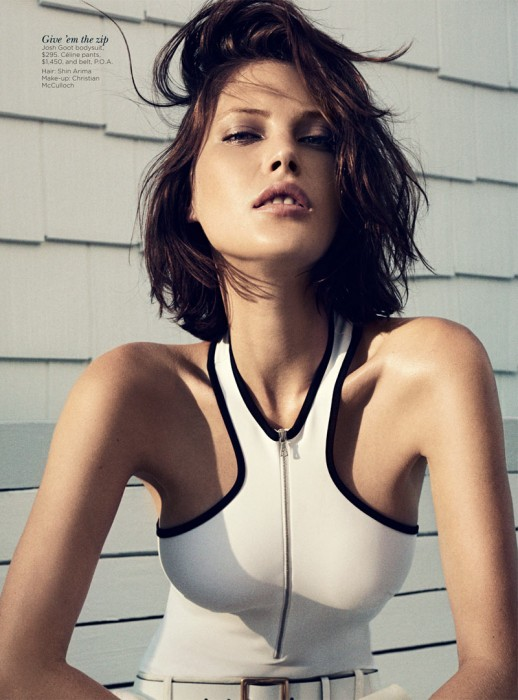 Catherine McNeil Stays Cool for Vogue Australia's November 2012 Cover Shoot by Benny Horne