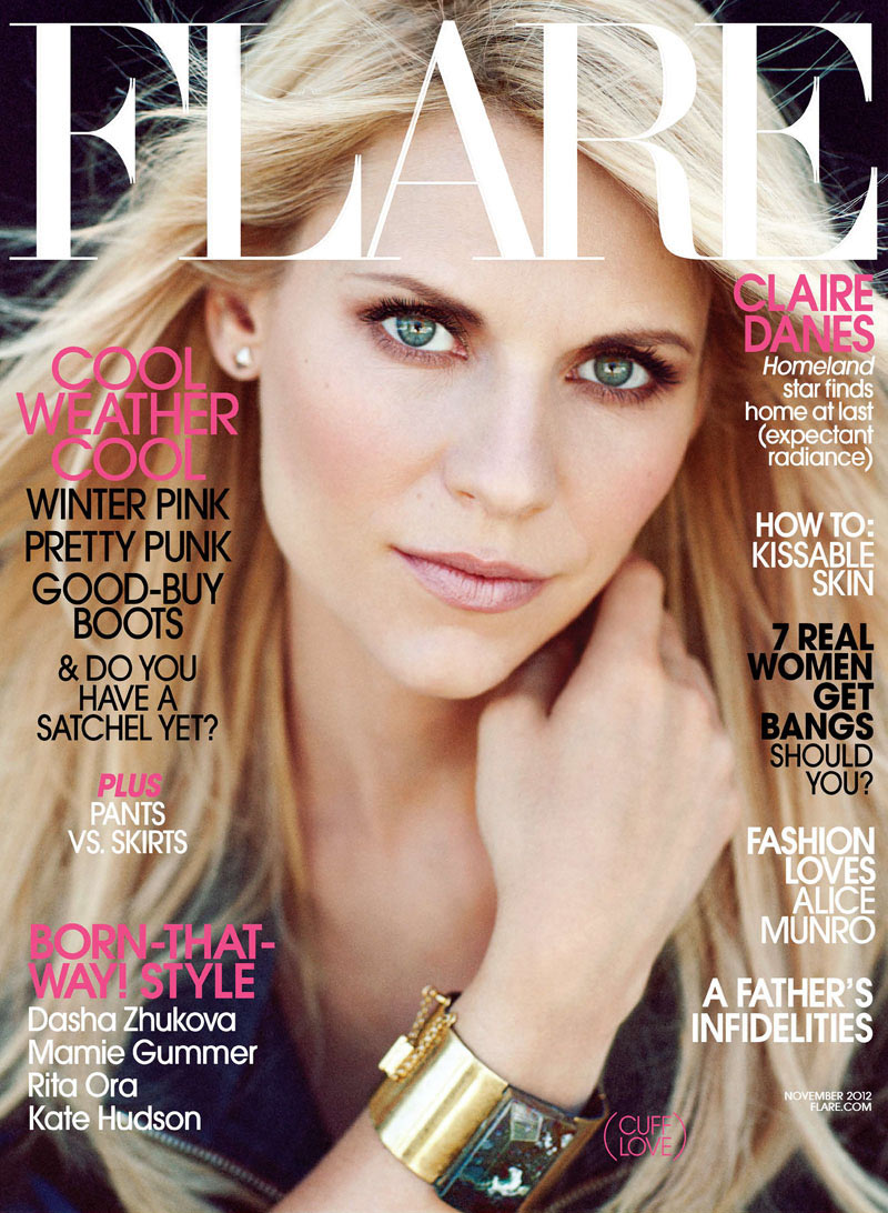 Claire Danes Stars in Flare's November Cover Shoot, Lensed by Chris Nicholls