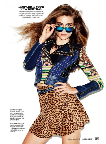 Ellie Ross is a Prints Master for Cosmopolitan November 2012 by Francisco Garcia