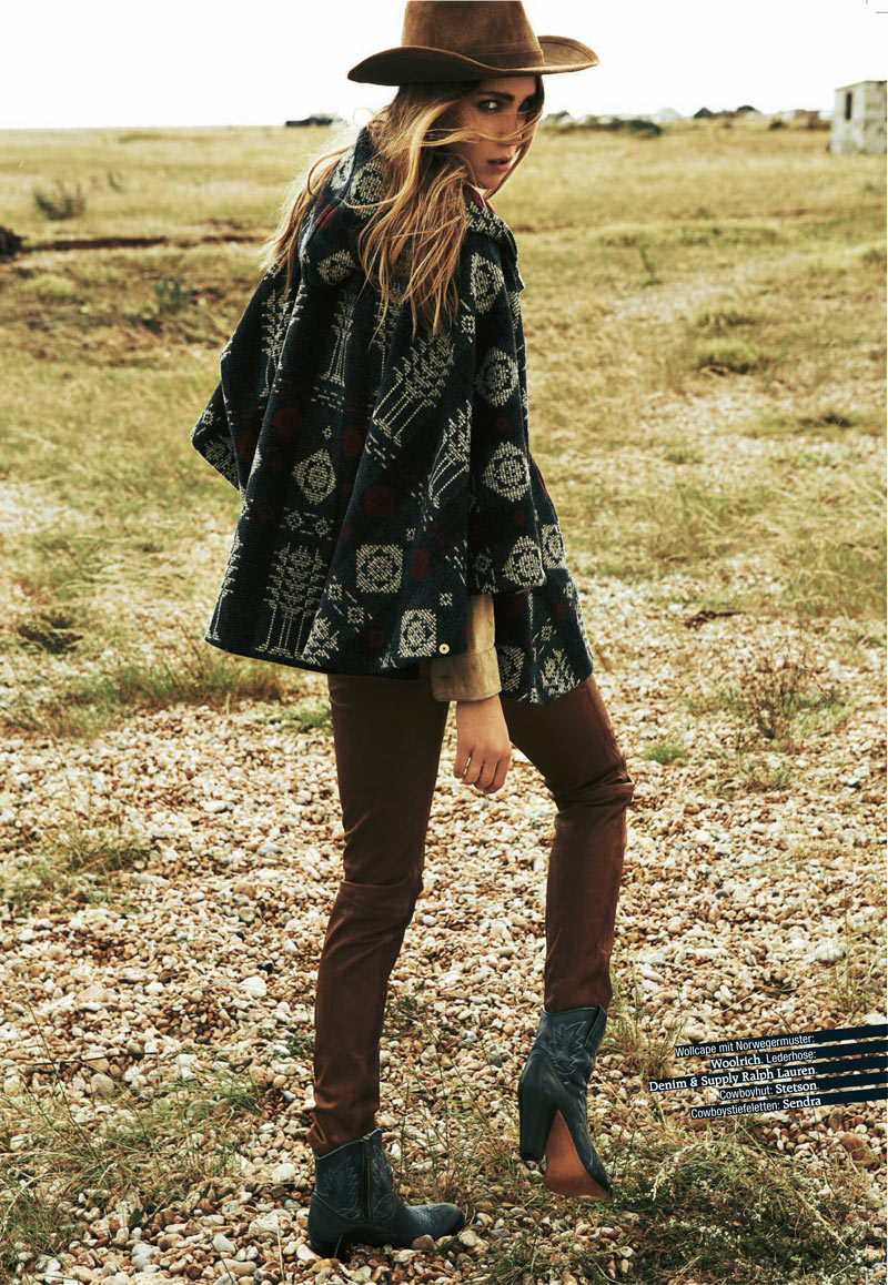 Dasha Sushko is Cowgirl Chic for Grazia Germany